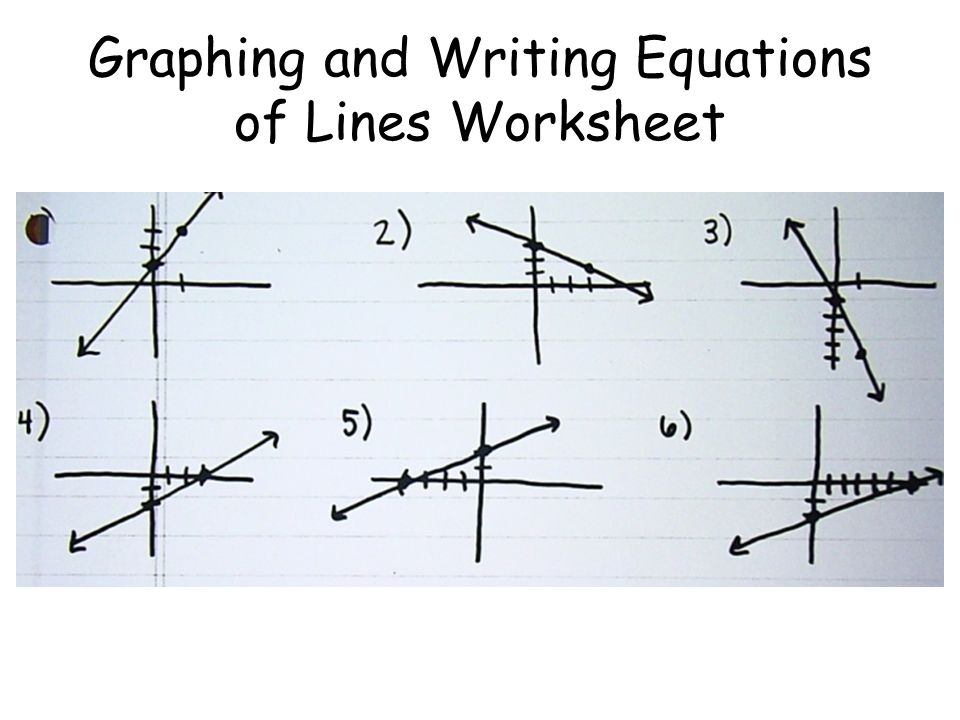 graphing and writing equations of lines worksheet ppt download. Black Bedroom Furniture Sets. Home Design Ideas