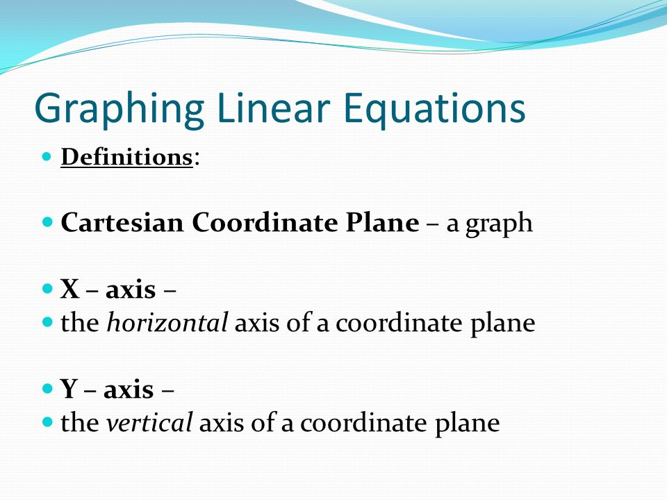 Equations of Lines in the Coordinate Plane - ppt video ... X Axis Definition