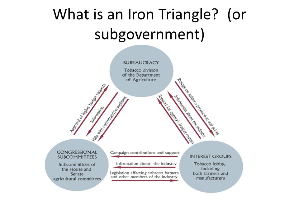 iron triagle and issue networks essay But it does make sense to operate under the assumption that at some point most corporate networks  each one surrounded by an iron  essay: notes on.