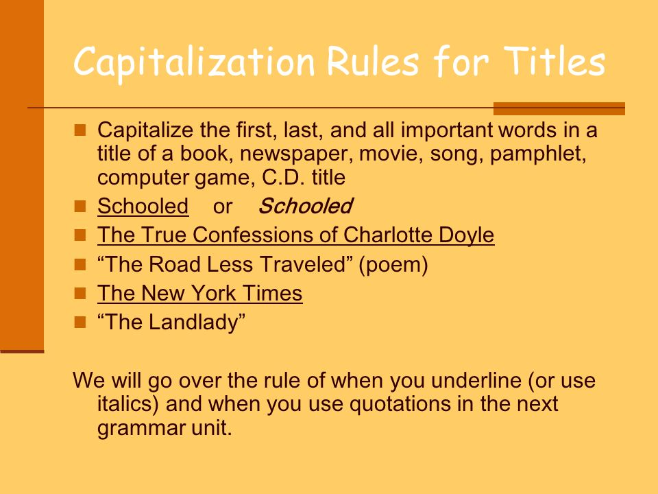 rules essay title How do you format a book or movie title italics or quotation marks here are the rules for any kind of title you might use, and some you probably never will.