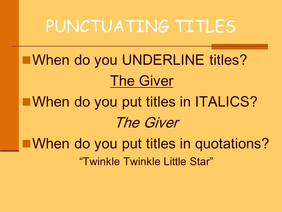 Properly Format Your Titles: Underlines, Italics, and Quotes | Writer's Relief