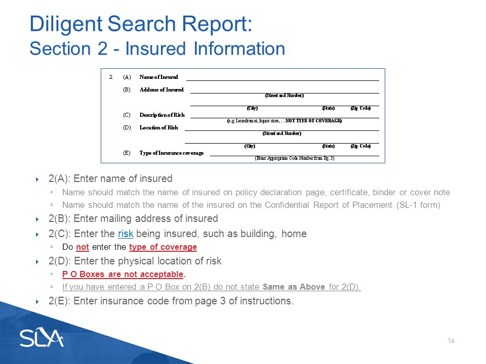 Filing Requirements for the Surplus Line Association of California ...