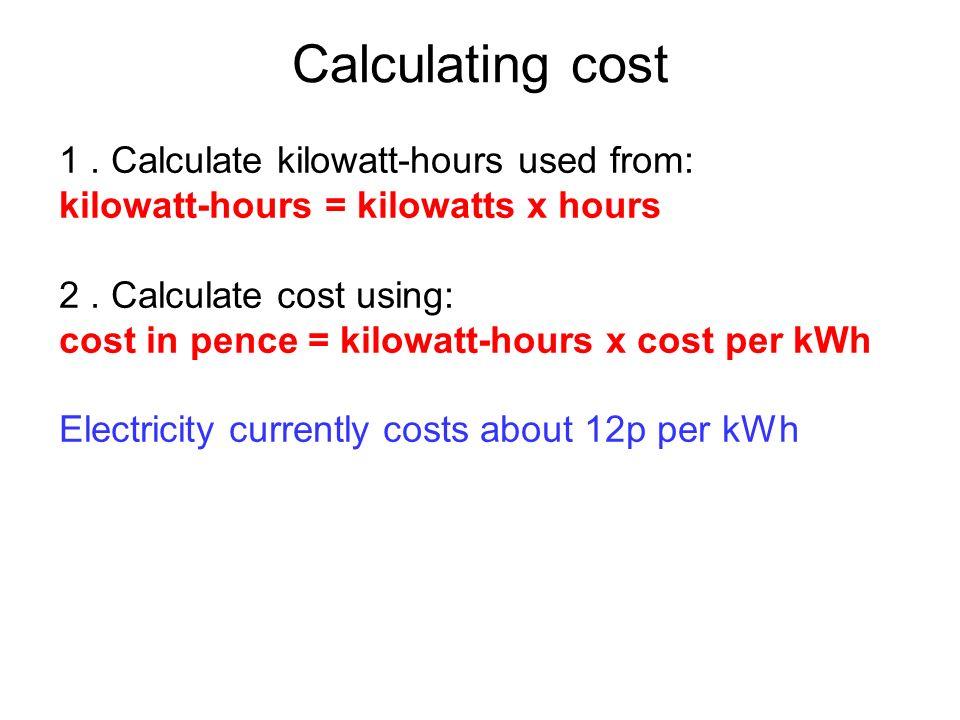 kilowatt ours worksheet