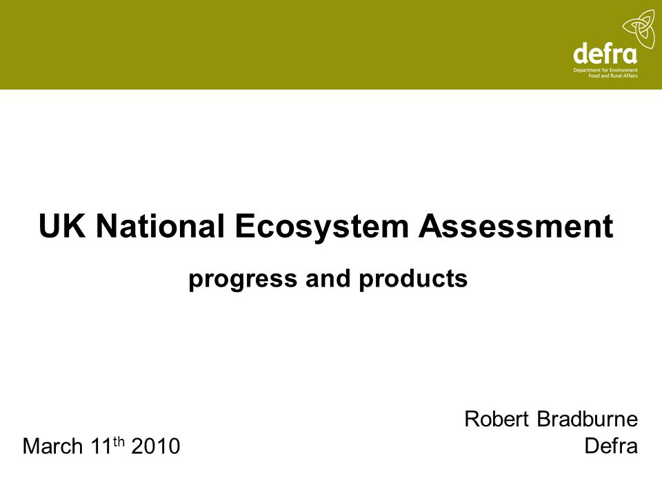 UK National Ecosystem Assessment