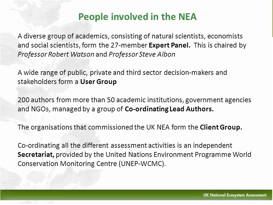People involved in the NEA