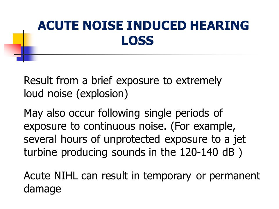 ACUTE NOISE INDUCED HEARING LOSS