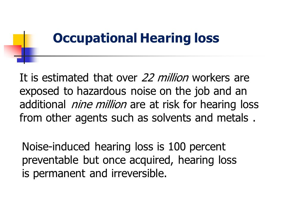 Occupational Hearing loss