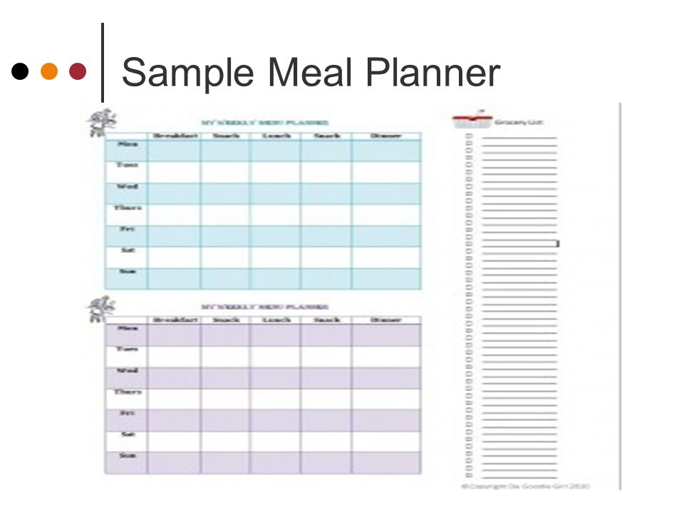 Meal Planning Just Facs  Ppt Download