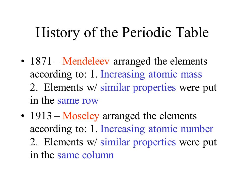 Periodic table trends ppt video online download history of the periodic table urtaz Image collections