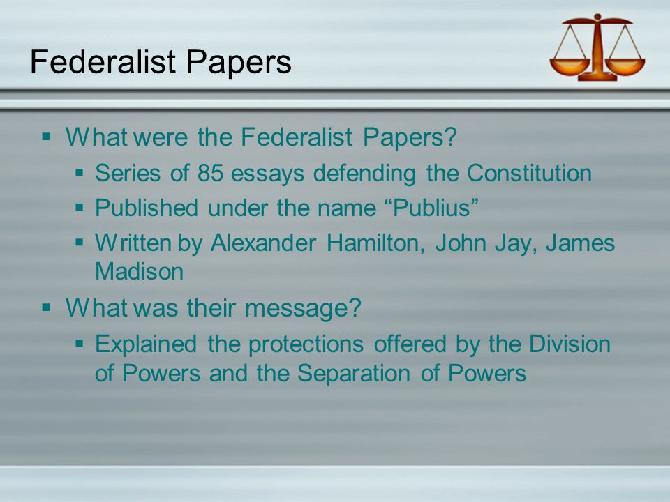 essays were written defend promote constitution These essays were written to defend and promote the ratification of the new constitution anti-federalist name given to the group who did not favor ratification of the constitution.