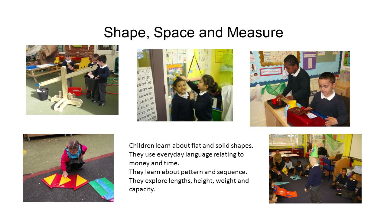Shape, Space and Measure