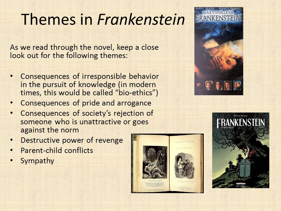 frankenstein and destructive knowledge Her desire of knowledge  mary shelley finished frankenstein,  the novel's resolution proposes that when female values triumph over violent and destructive.