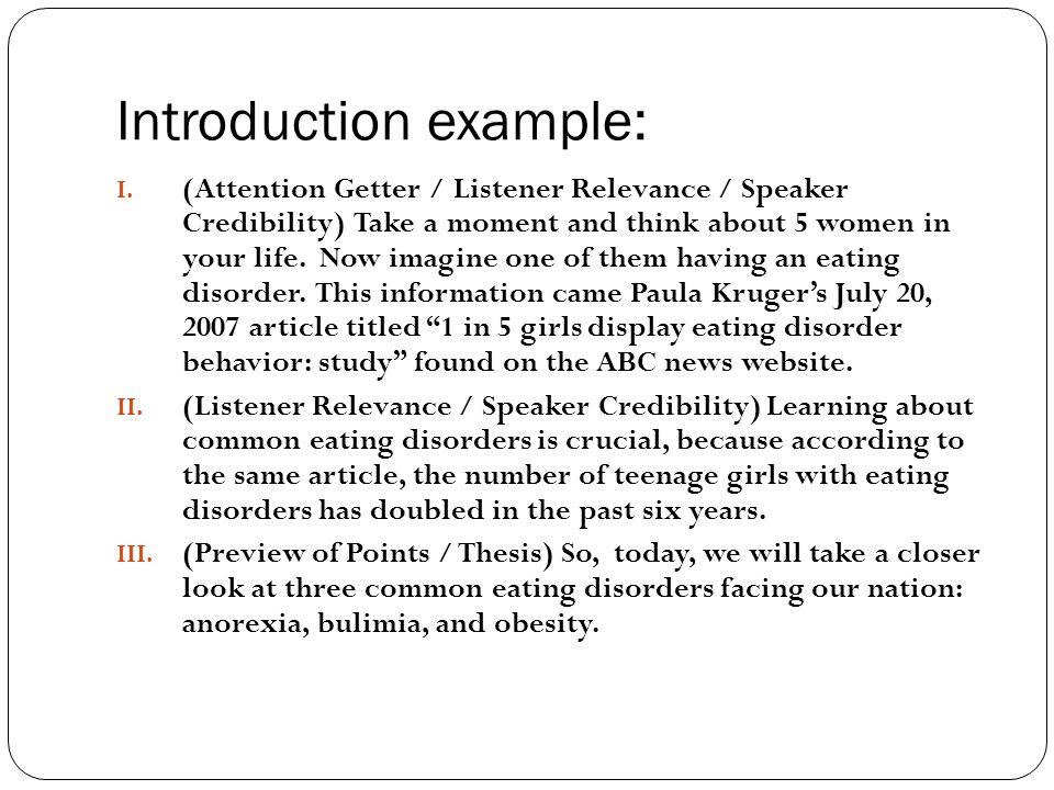 informative speech attention getters examples
