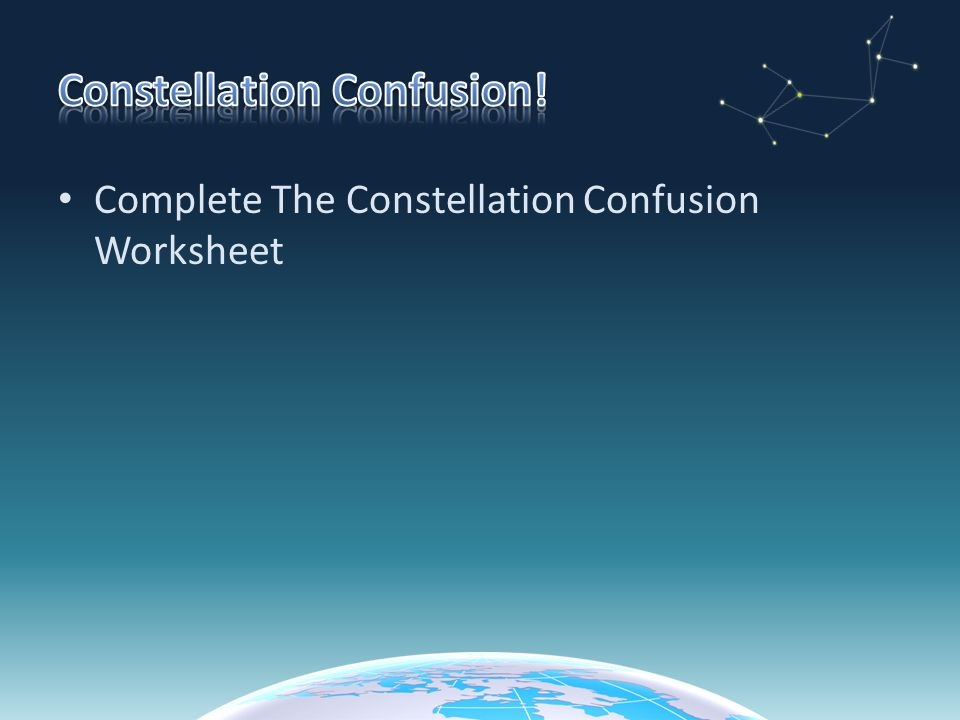 Patterns in the Night Sky ppt video online download – Constellation Worksheet