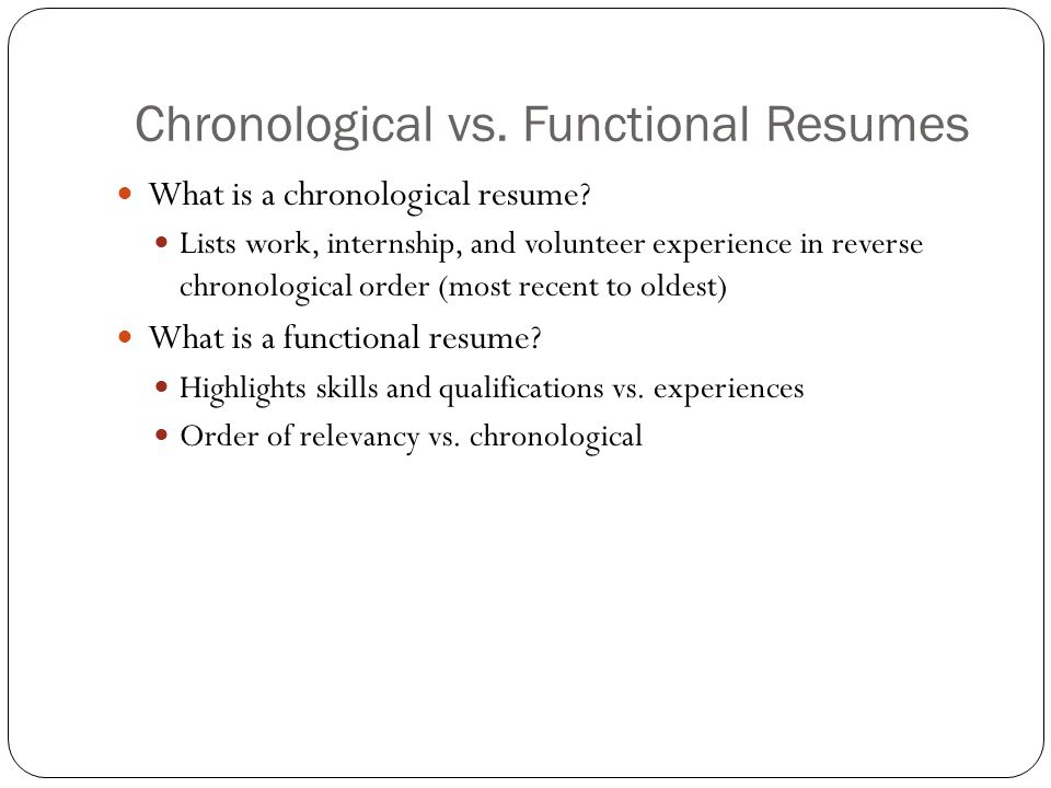 functional vs chronological resume ] | 9 functional resume vs ...