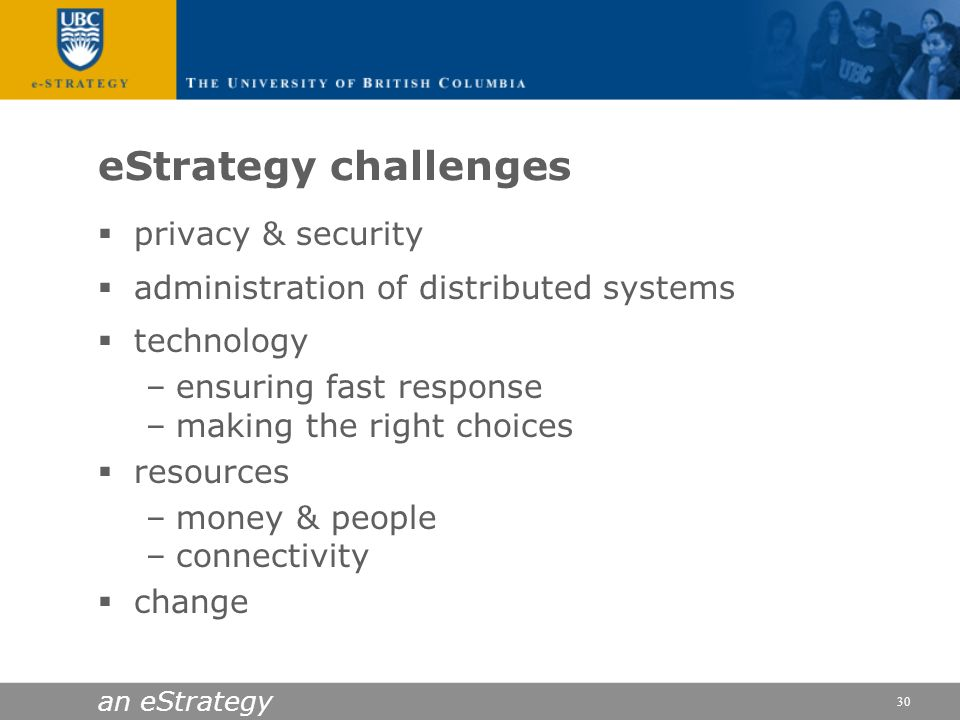 eStrategy challenges privacy & security