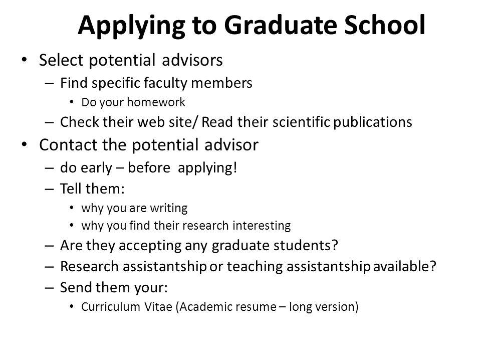 cv for graduate school