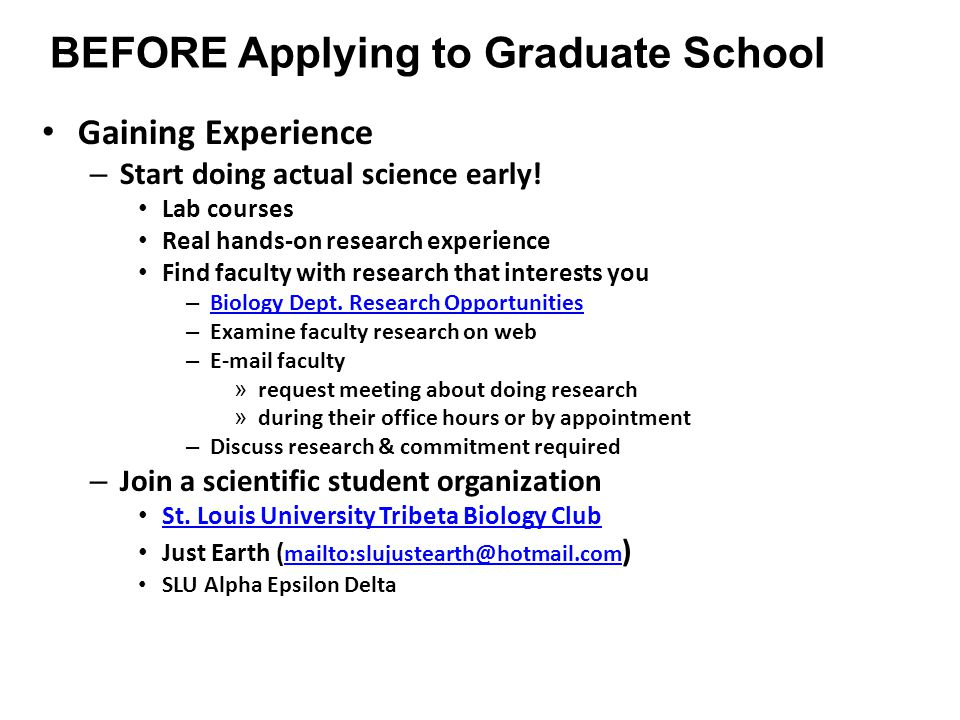 How to Go to Graduate School - ppt video online download