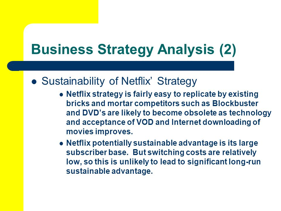 netflix inc strategic profile and case analysis Case analysis causley 14 internal audit strengths netflix the company strategic creates a unique netflix case analysis causley 20 grand.