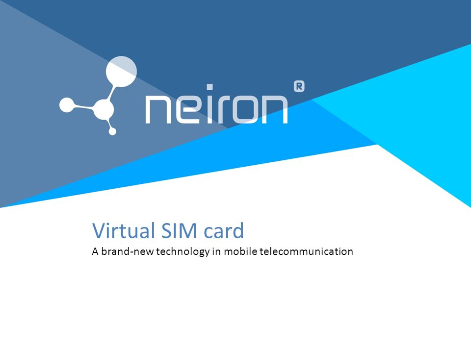 virtual sim card a brand-new technology in mobile, Powerpoint templates