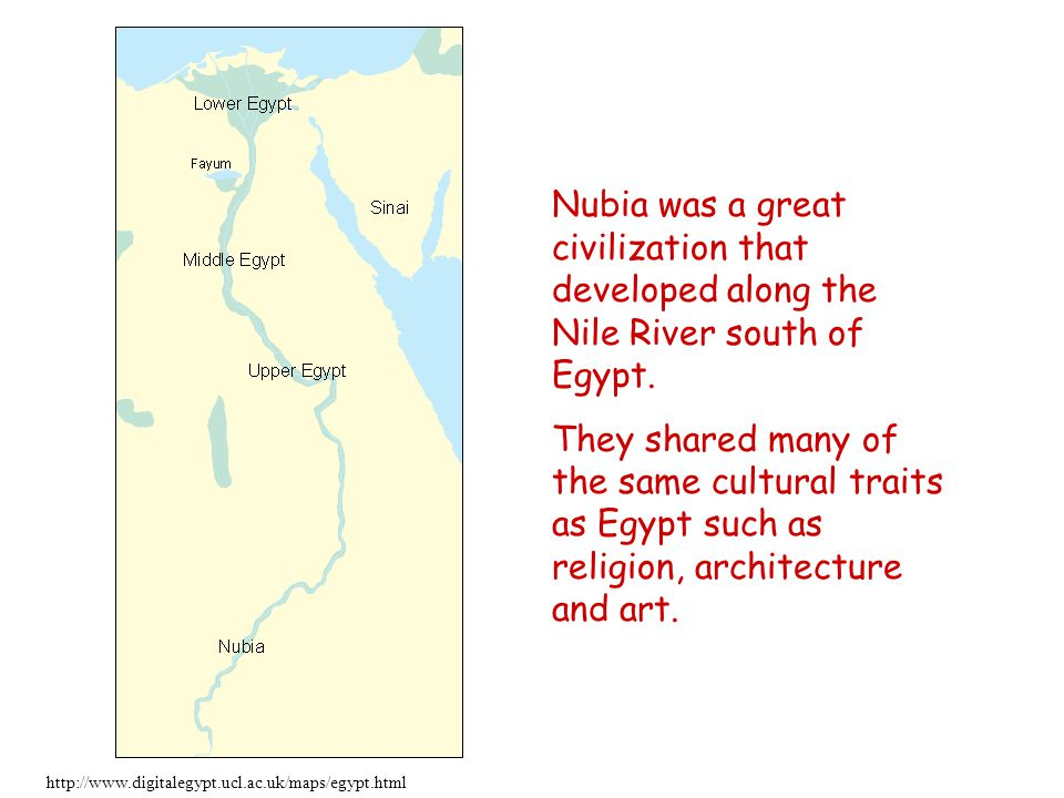 egyptian and nubian civilization similarities and The second part of diop's thesis however was that egyptian civilization had been  ancient egypt and black africa,  nubian words appear in the egyptian.