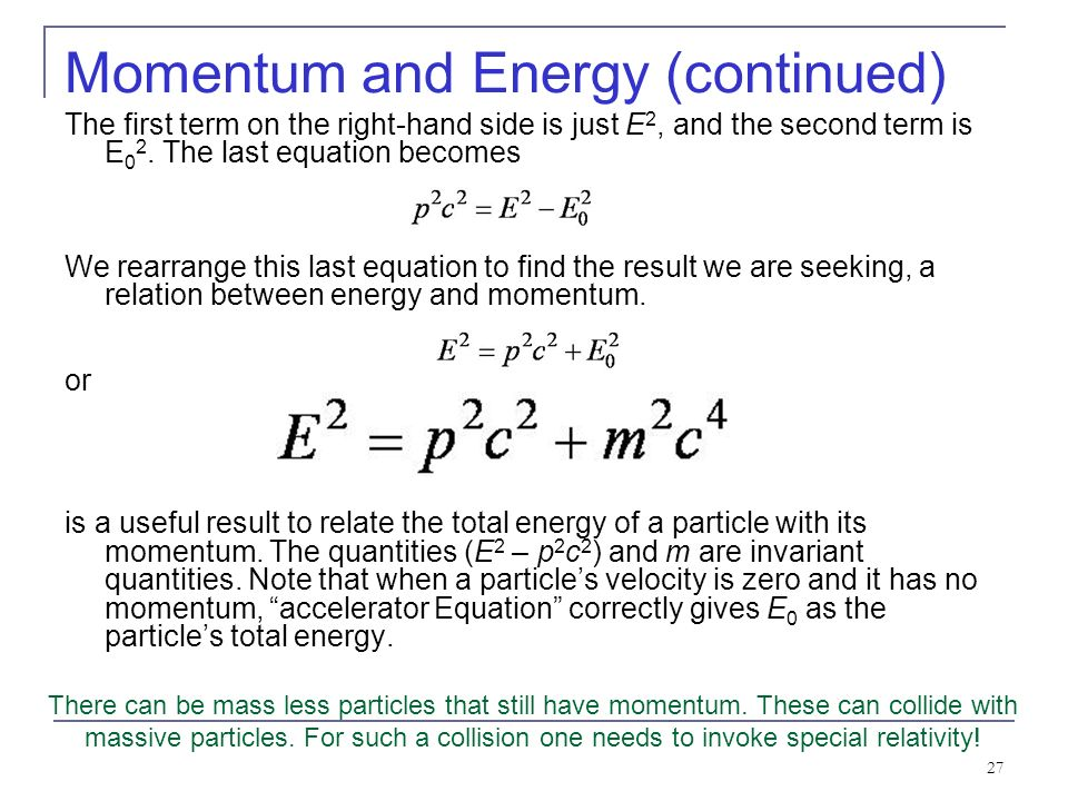 formula for momentum using mass and velocity relationship