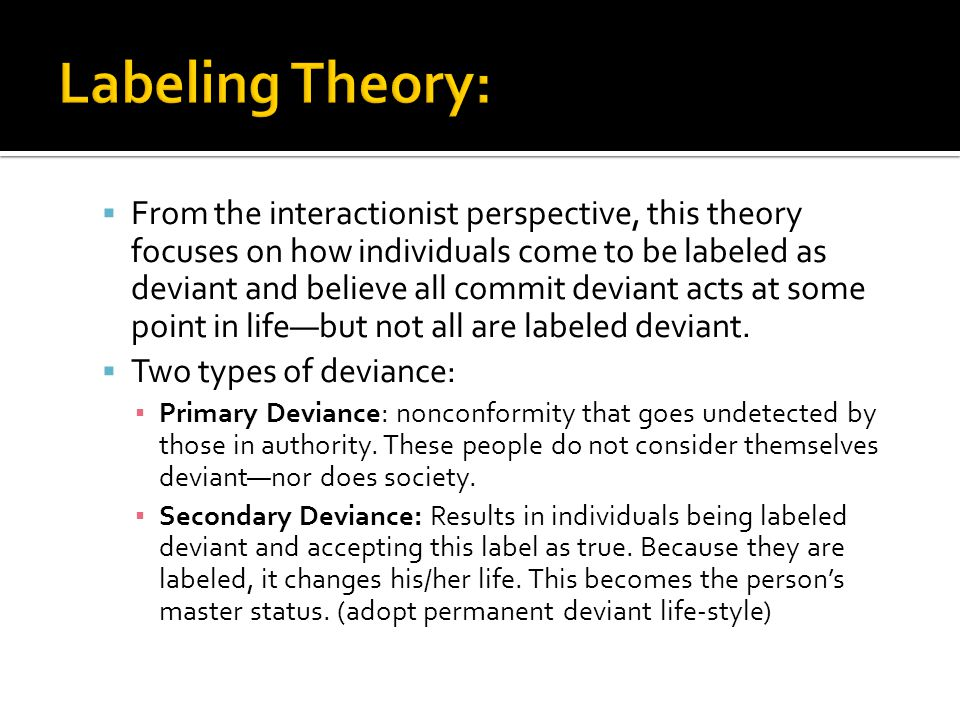 Labeling Theory: