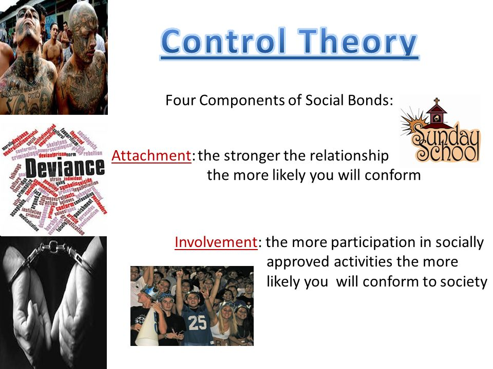 Control Theory Four Components of Social Bonds: