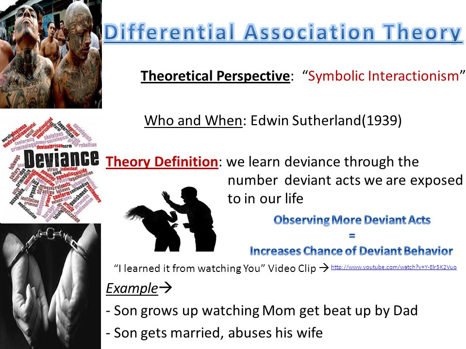edwin sutherlands differential association theory