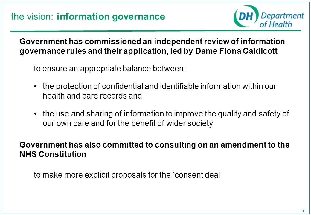 the vision: information governance