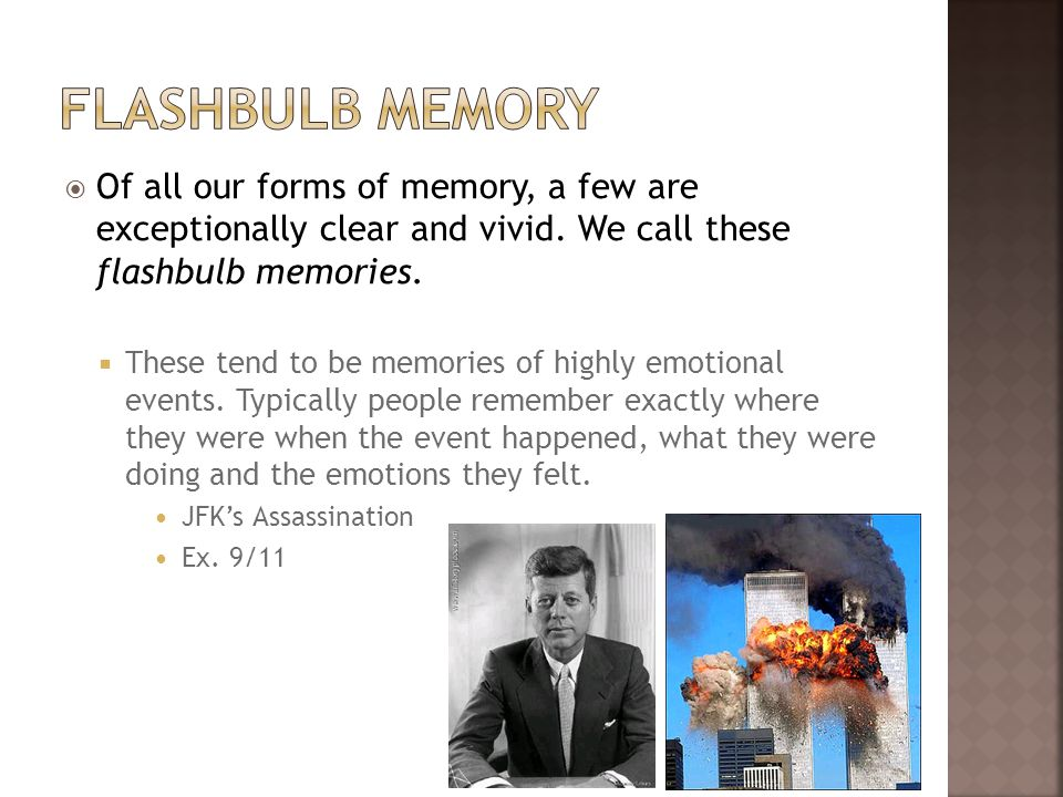 flashbulb memories Flashbulb memory tour cat, released 01 january 2001 1 money clip 2 lazilywelay 3 here's that word again 4 untitled (coda.