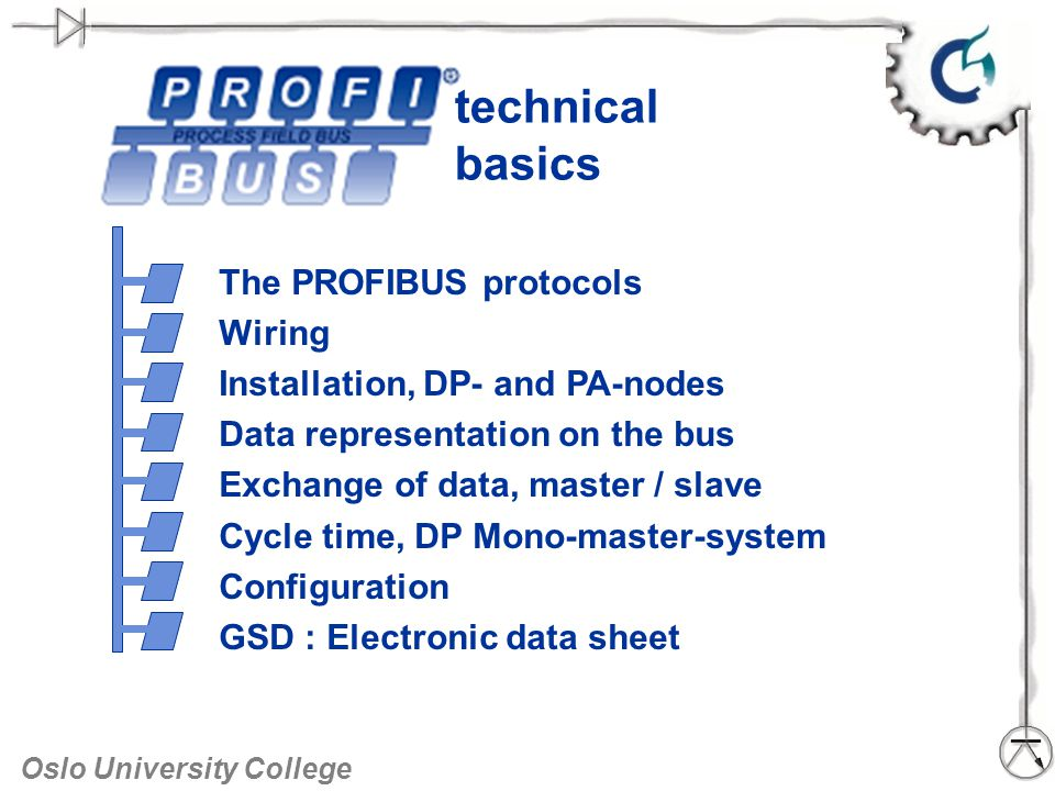 technical basics The PROFIBUS protocols Wiring - ppt video online ...