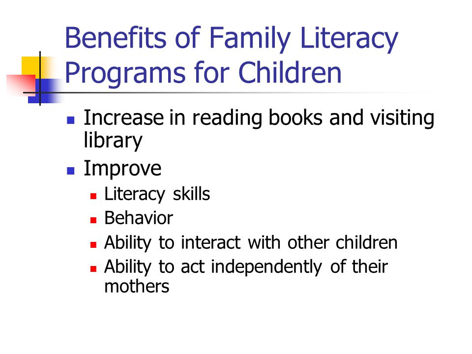 Adult Education and Family Literacy Act of 1998