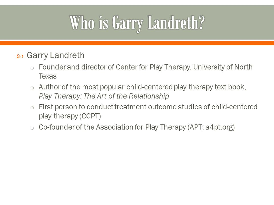 play therapy the art of relationship by garry landreth
