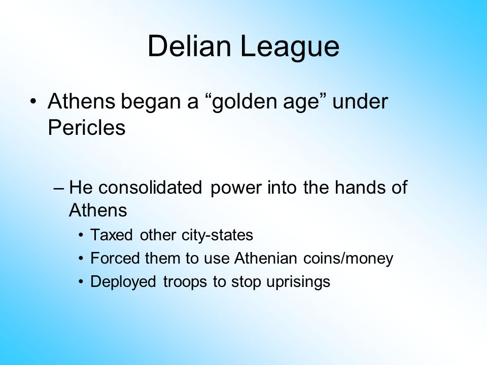 delian league Looking for delian league find out information about delian league confederation of greek city-states under the leadership of athens the name is used to designate two distinct periods of alliance, the first 478-404 bc explanation of delian league.