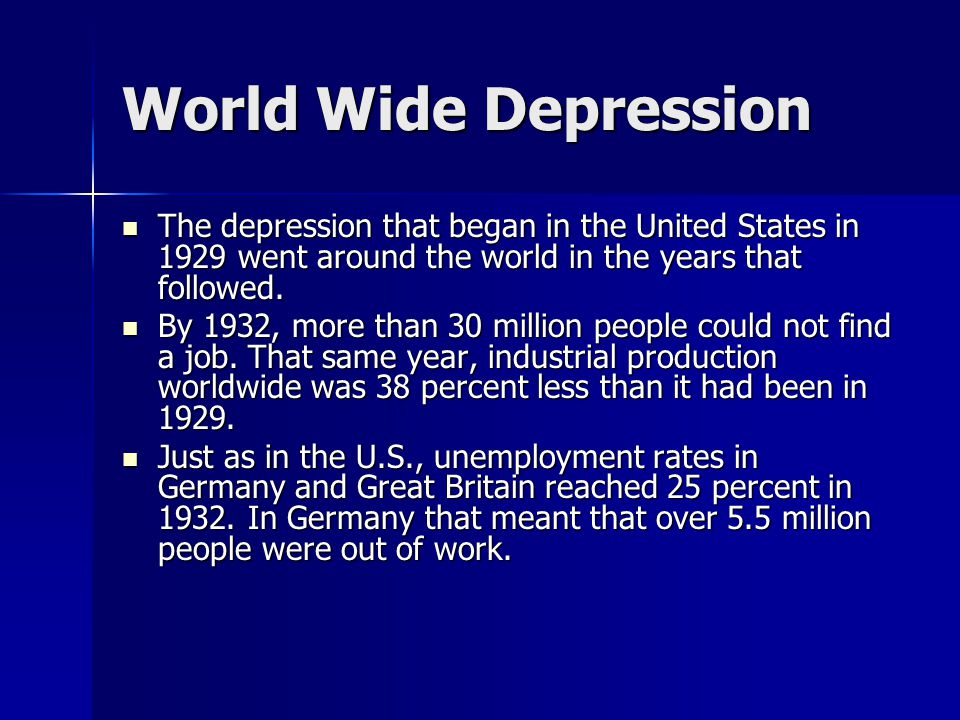 The Great Depression. - ppt video online download