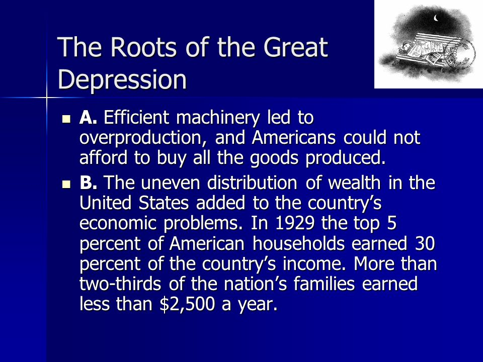 Who prospered in the great depression