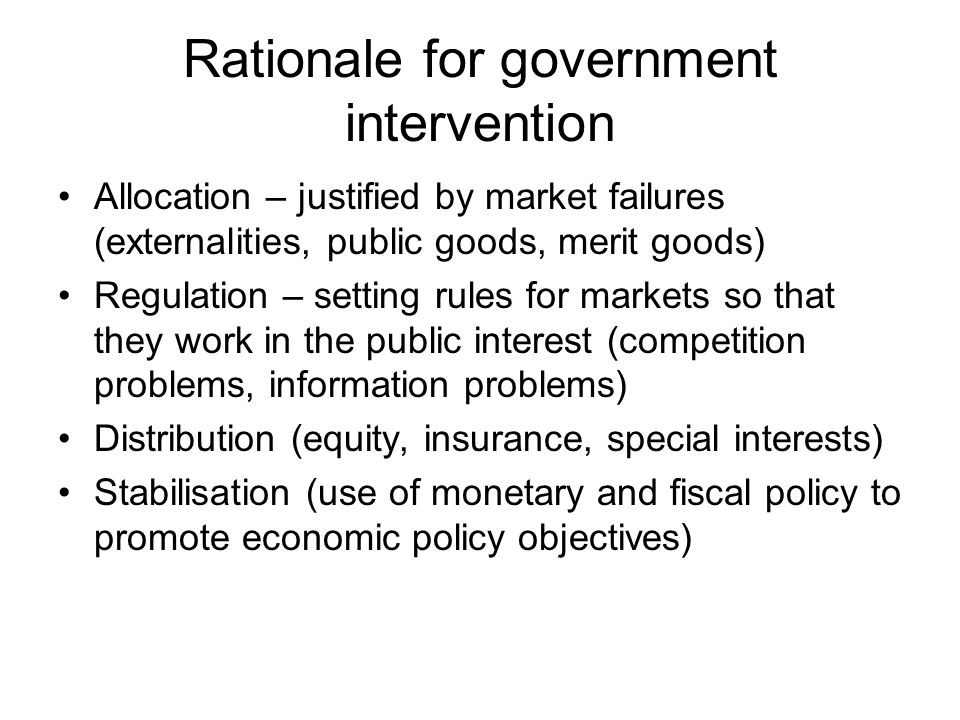 Government Intervention And Its Disadvantages 1633