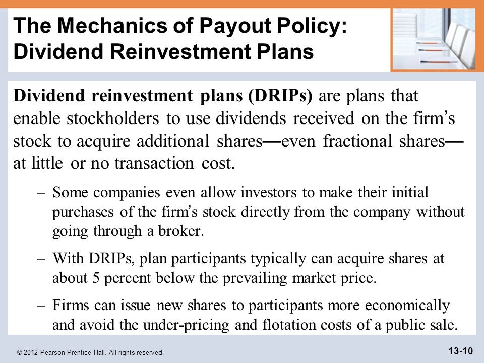 Dividend policy and share market price