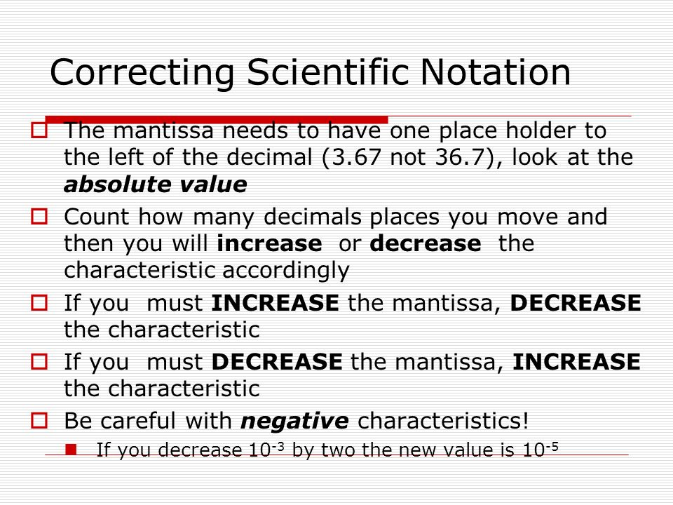 Scientific Notation - Lessons - Tes Teach