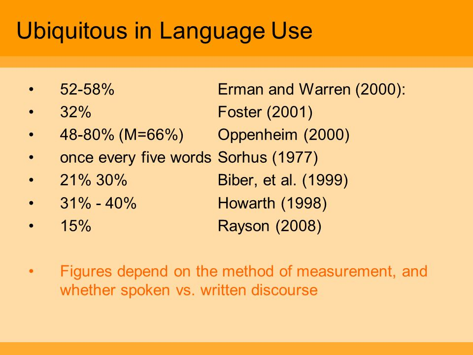 Ubiquitous in Language Use