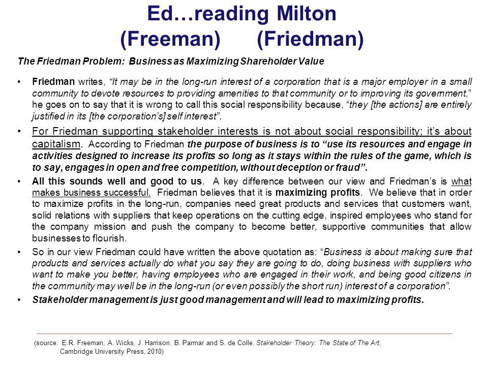 Ed…reading Milton (Freeman) (Friedman)