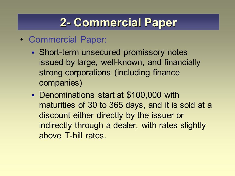commercial paper rates 48 federal reserve bank of richmond economic quarterly face value and, at maturity, receives the face value and accrued interest all commercial paper interest rates are quoted on a discount basis5.