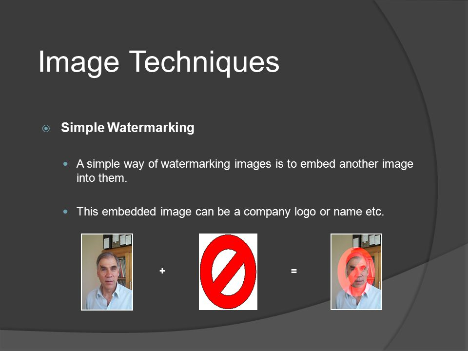 Image Techniques Simple Watermarking
