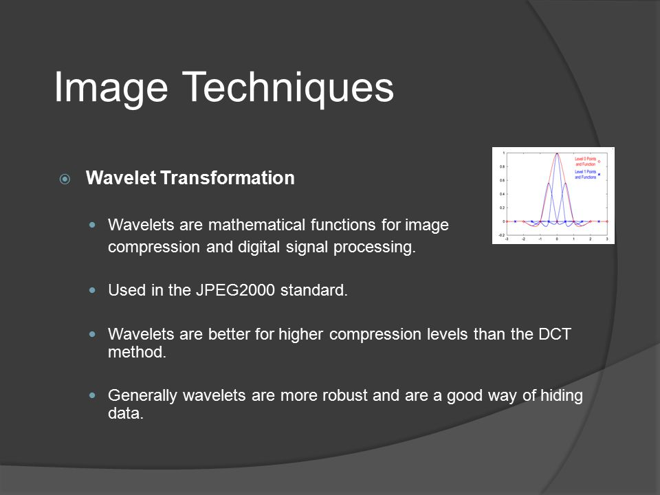 Image Techniques Wavelet Transformation