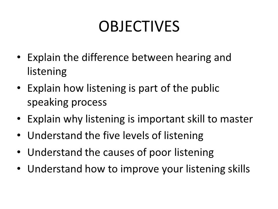 difference between listening and hearing Understanding the difference between hearing and listening is important when a  child hears someone, they may keep on going in their own.