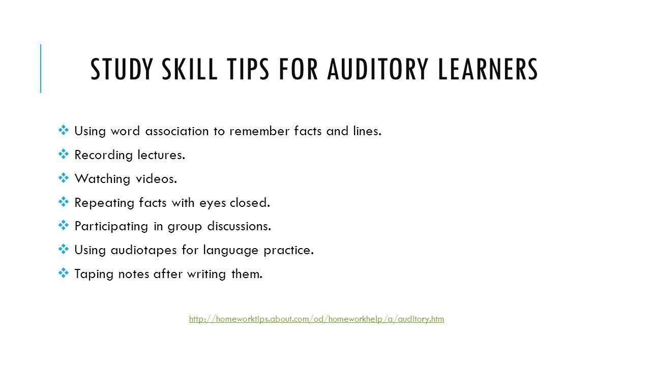 What is your learning style - AUDITORY LEARNERS - YouTube