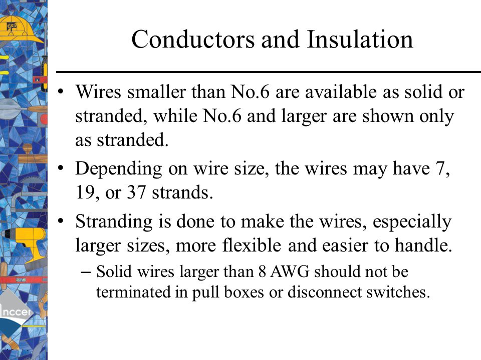Awg american wire gauge ppt video online download 7 conductors and insulation greentooth Images