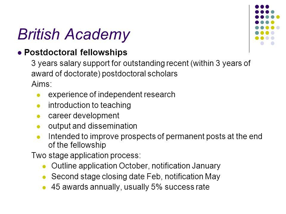British Academy Postdoctoral fellowships