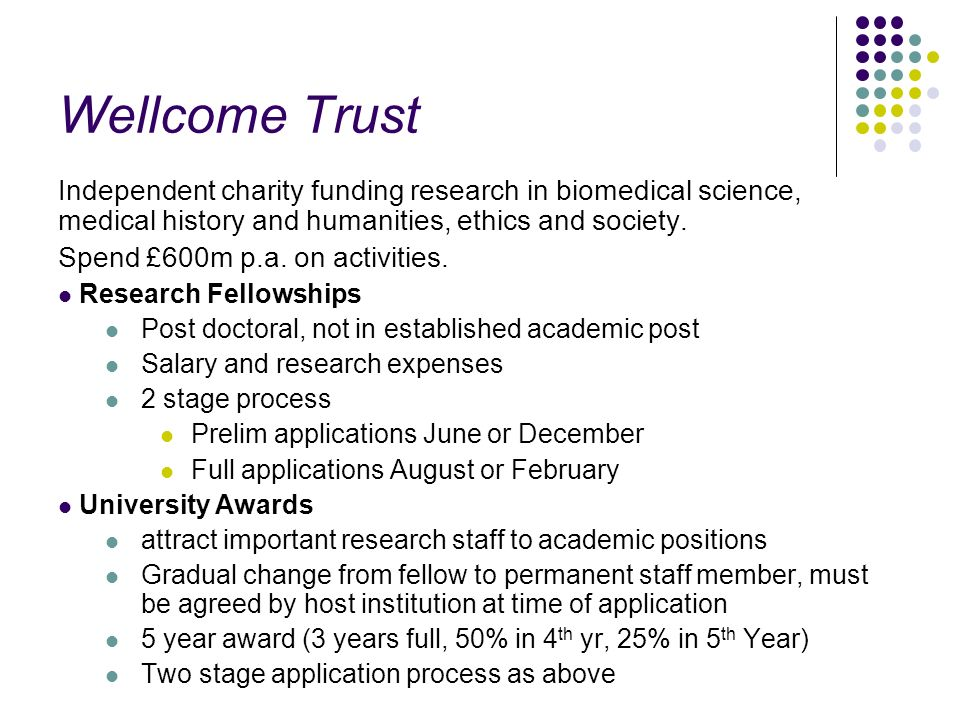 Wellcome Trust Independent charity funding research in biomedical science, medical history and humanities, ethics and society.